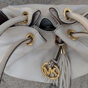 Michael Kors stone pebbled leather shoulder bag